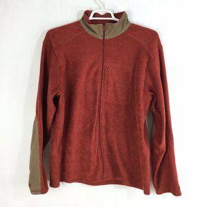 KAVU Men's Elbow Patch Fleece Full Zip Jacket